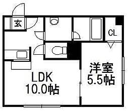 アムール東札幌[411号室]の間取り