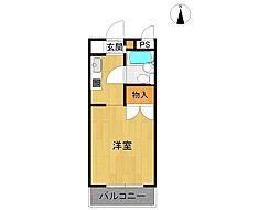 パラツィーナ甲子園口[2階]の間取り