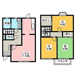 [テラスハウス] 岡山県岡山市南区妹尾 の賃貸【/】の間取り