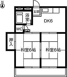 シャンブル勝川[101号室]の間取り