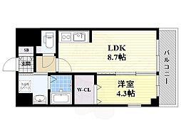 JR東海道・山陽本線 吹田駅 徒歩4分の賃貸マンション 5階1LDKの間取り