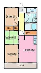 シティAZUMA[107号室]の間取り