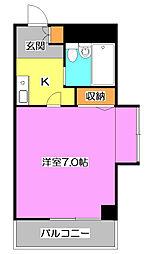 東京都東久留米市幸町1丁目の賃貸マンションの間取り