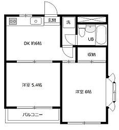 CIS散田町[301号室]の間取り