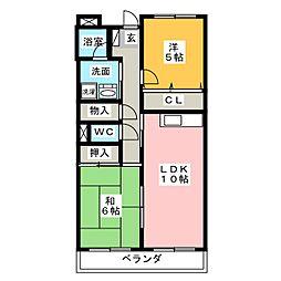 ハイツレフィナード[1階]の間取り