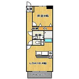 千葉県船橋市夏見5丁目の賃貸マンションの間取り