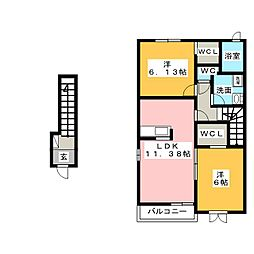 サウザンドサニー[2階]の間取り