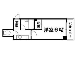 テイクフォー西陣[2階]の間取り