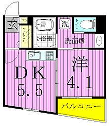 キャッスルマンション松戸[505号室]の間取り