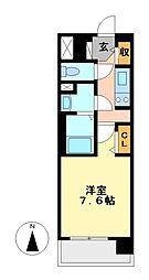 プレサンス名古屋STATIONディーヴァ[9階]の間取り