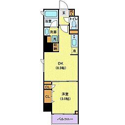 東京メトロ半蔵門線 半蔵門駅 徒歩3分の賃貸マンション 6階1DKの間取り