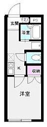 東京都足立区皿沼1丁目の賃貸アパートの間取り