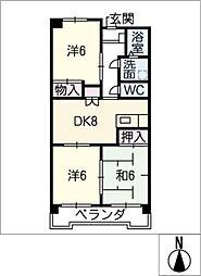 ウィンザーK&Yマンション[5階]の間取り