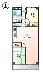 マリオン大曽根[6階]の間取り