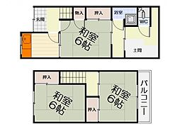 [一戸建] 大阪府堺市西区上野芝向ケ丘町2丁 の賃貸【/】の間取り