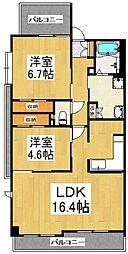 エーコー・カミキI[2階]の間取り