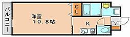 ウェルカム県庁口[9階]の間取り