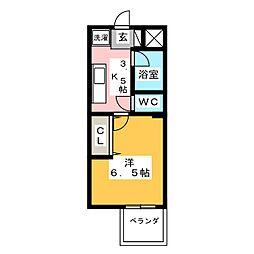 PLEAST大橋Ⅳ(旧 エタープ塩原)[4階]の間取り