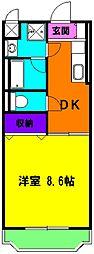 静岡県磐田市城之崎2丁目の賃貸マンションの間取り