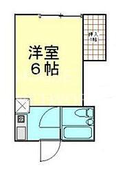 メゾン岡崎[201号室号室]の間取り