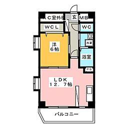 ムーブルII[5階]の間取り