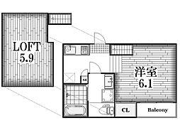 北区八代町二丁目2階建て アパート[2階]の間取り