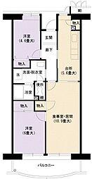 URアーバンラフレ小幡2号棟[6階]の間取り
