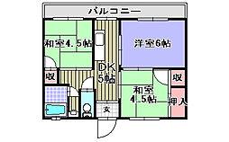 ガーデンハイツ飯坂1[504号室]の間取り