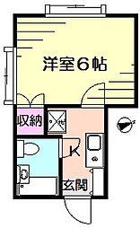 メゾンロワール菊名[2階]の間取り