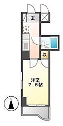 愛知県名古屋市千種区楠元町2丁目の賃貸マンションの間取り