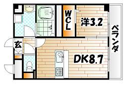 コンフォールパピヨン[3階]の間取り