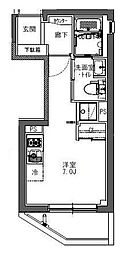 東京メトロ東西線 神楽坂駅 徒歩6分の賃貸マンション 3階ワンルームの間取り