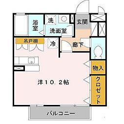 大阪府和泉市肥子町2丁目の賃貸アパートの間取り