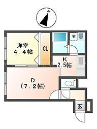 SENNA栄町[2階]の間取り