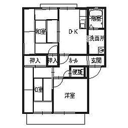 メゾン弘洋[1階]の間取り