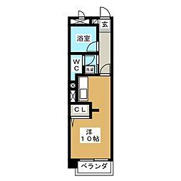 ラフォーレ司[1階]の間取り