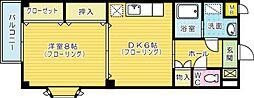ローズ[203号室]の間取り