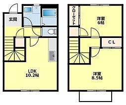 [タウンハウス] 愛知県豊田市大林町14丁目 の賃貸【/】の間取り