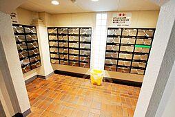 郵便受です。清潔に維持管理された共用部分です。