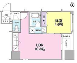 新築 リバーレ東新宿[702号室号室]の間取り