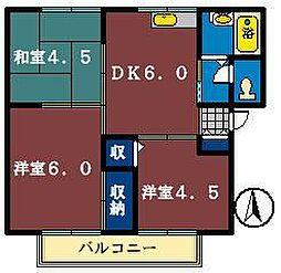 ホワイティ習志野[1階]の間取り