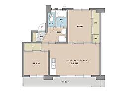 ビレッジハウス船木II1号棟[304号室]の間取り