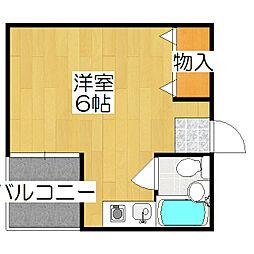 第11長栄シャトー泉[306号室]の間取り