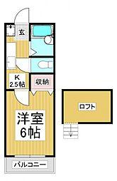 ピークハイムE[2階]の間取り