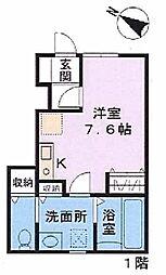埼玉県上尾市上町2丁目の賃貸アパートの間取り