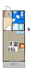 コーポサカタ[2階]の間取り
