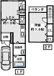 [一戸建] 大阪府堺市東区草尾 の賃貸【/】の間取り