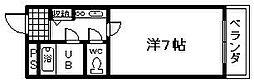 メゾン阪南2[402号室]の間取り
