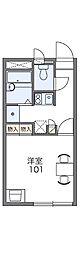 長野県松本市筑摩1丁目の賃貸アパートの間取り
