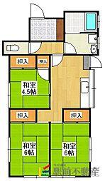 [一戸建] 福岡県久留米市藤光町 の賃貸【/】の間取り